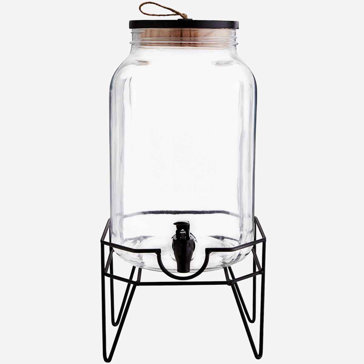 Square water dispenser w/ iron stand