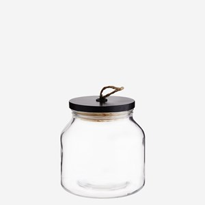 Glass jar w/ wooden lid