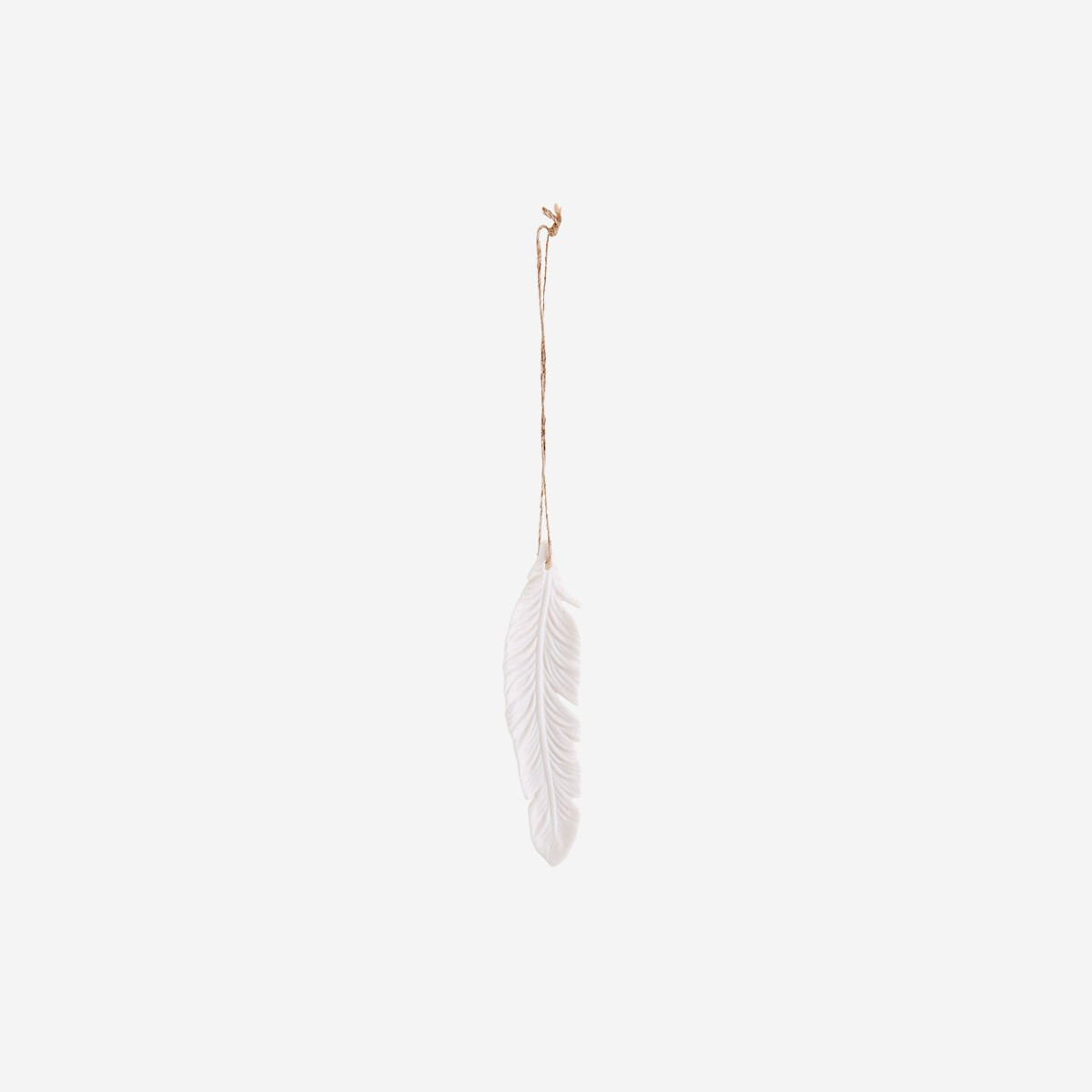 Hanging porcelain feather