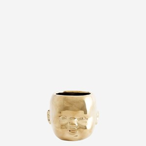 Flower pot w/ face imprint