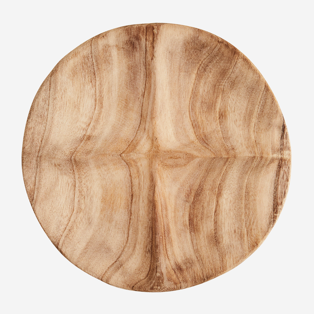 Four part wooden plate