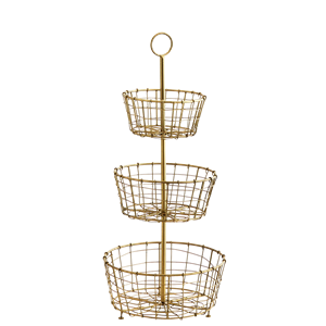 Iron etage w/ baskets