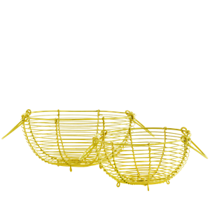 Wire baskets w/ handles
