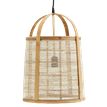 Bamboo ceiling lamp w/ linen