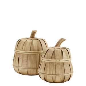 Rattan baskets w/ lid
