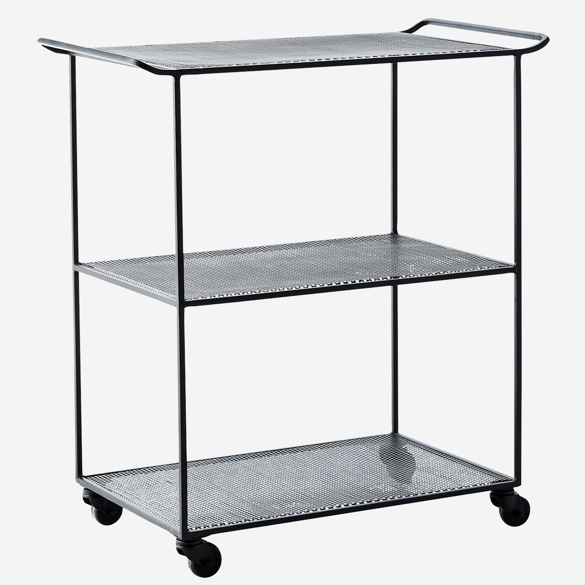 Rectangular iron trolley