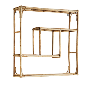Quadratic bamboo shelf