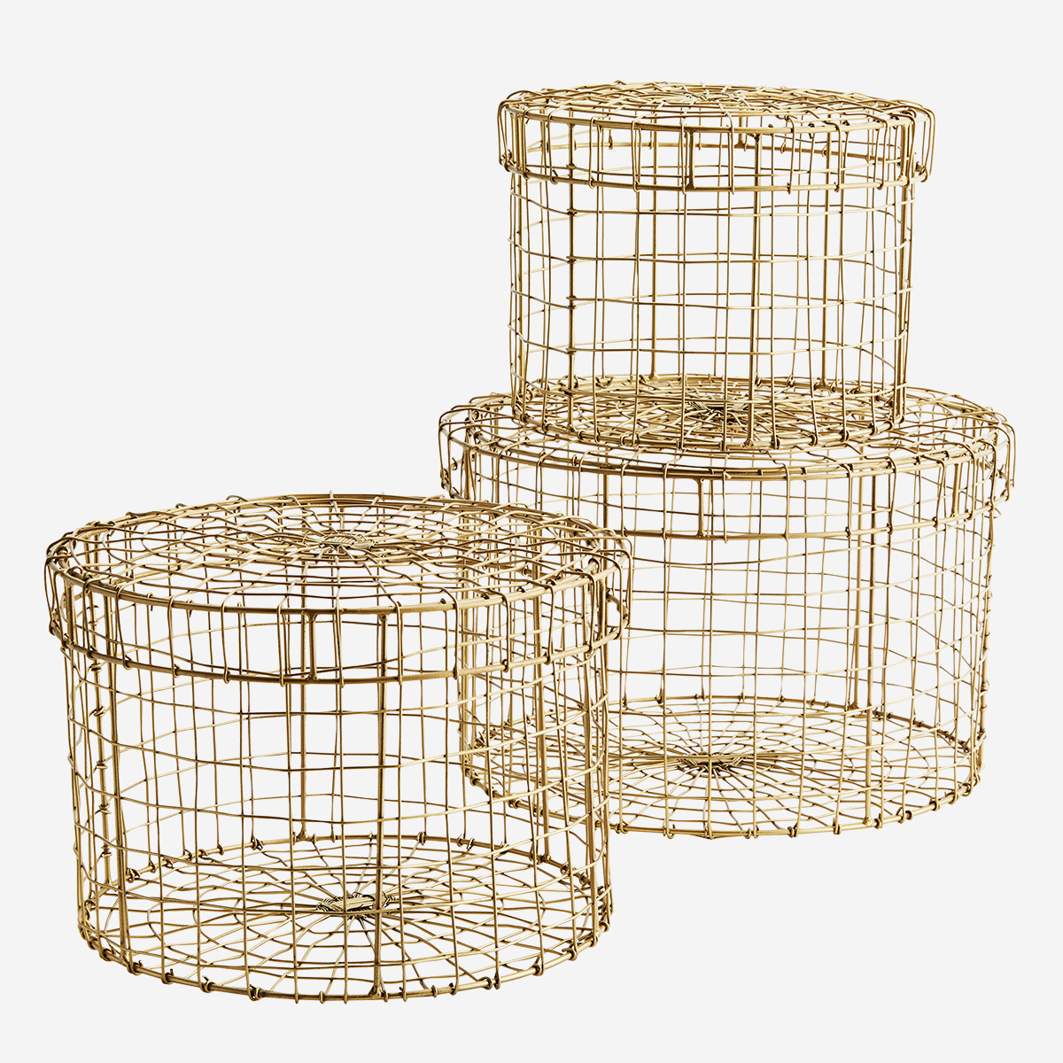 Round wire boxes w/ lid
