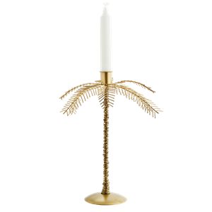 Iron palm tree candle holder