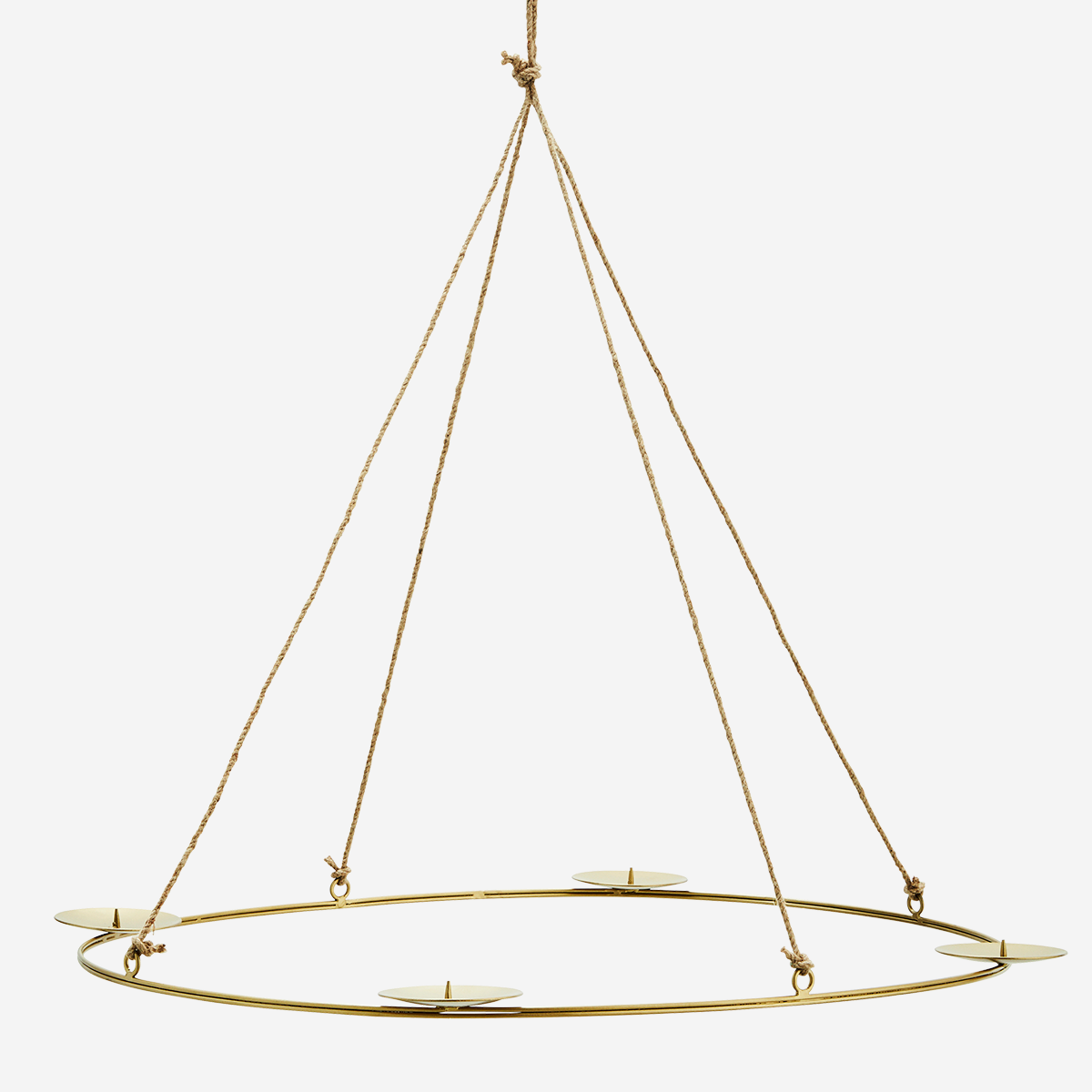 Oval hanging candle holder
