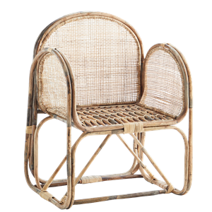 Bamboo chair w/ cane