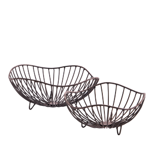 Organic shaped iron baskets
