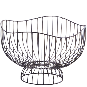 Organic shaped iron basket