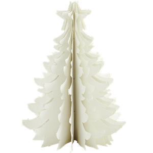 Standing paper pulp christmas tree