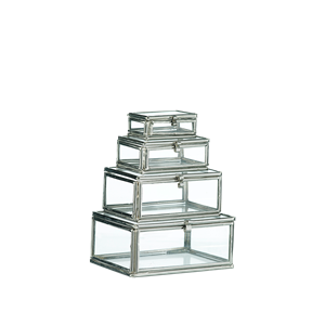Rectangular glass boxes w/ lid