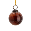 Hanging glass ball w/ marble finish