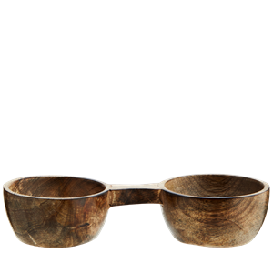 Wooden salt and pepper bowl
