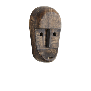 Wooden mask w/ eyes