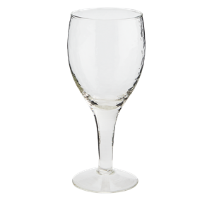 Hammered red wine glass