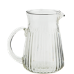 Glass jug w/ grooves