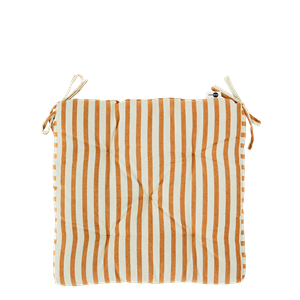 Striped cotton chair pad