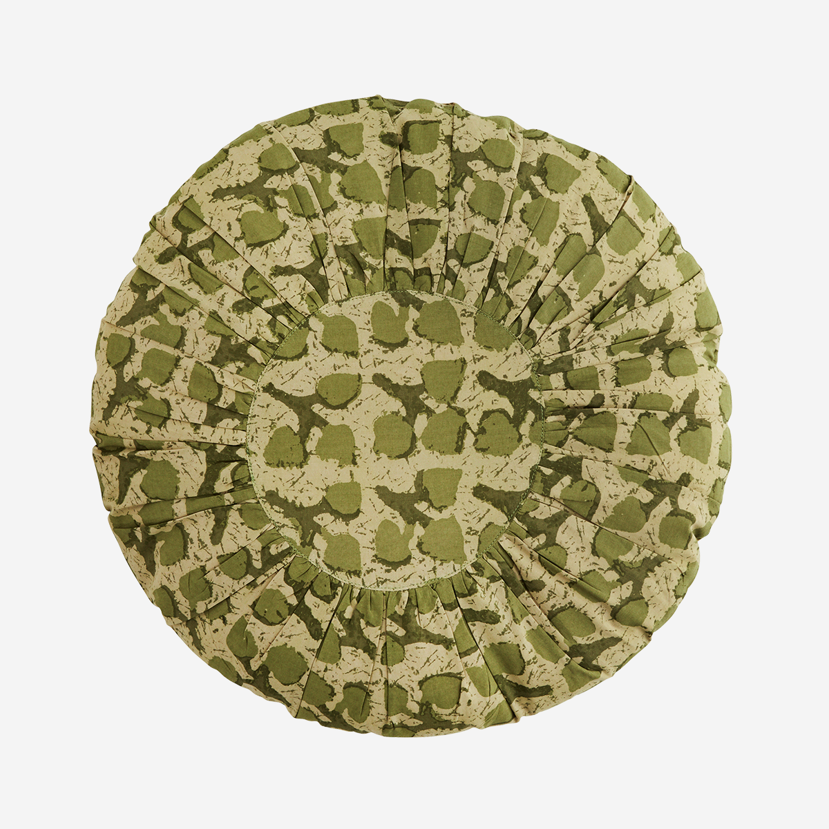 Round printed cotton cushion