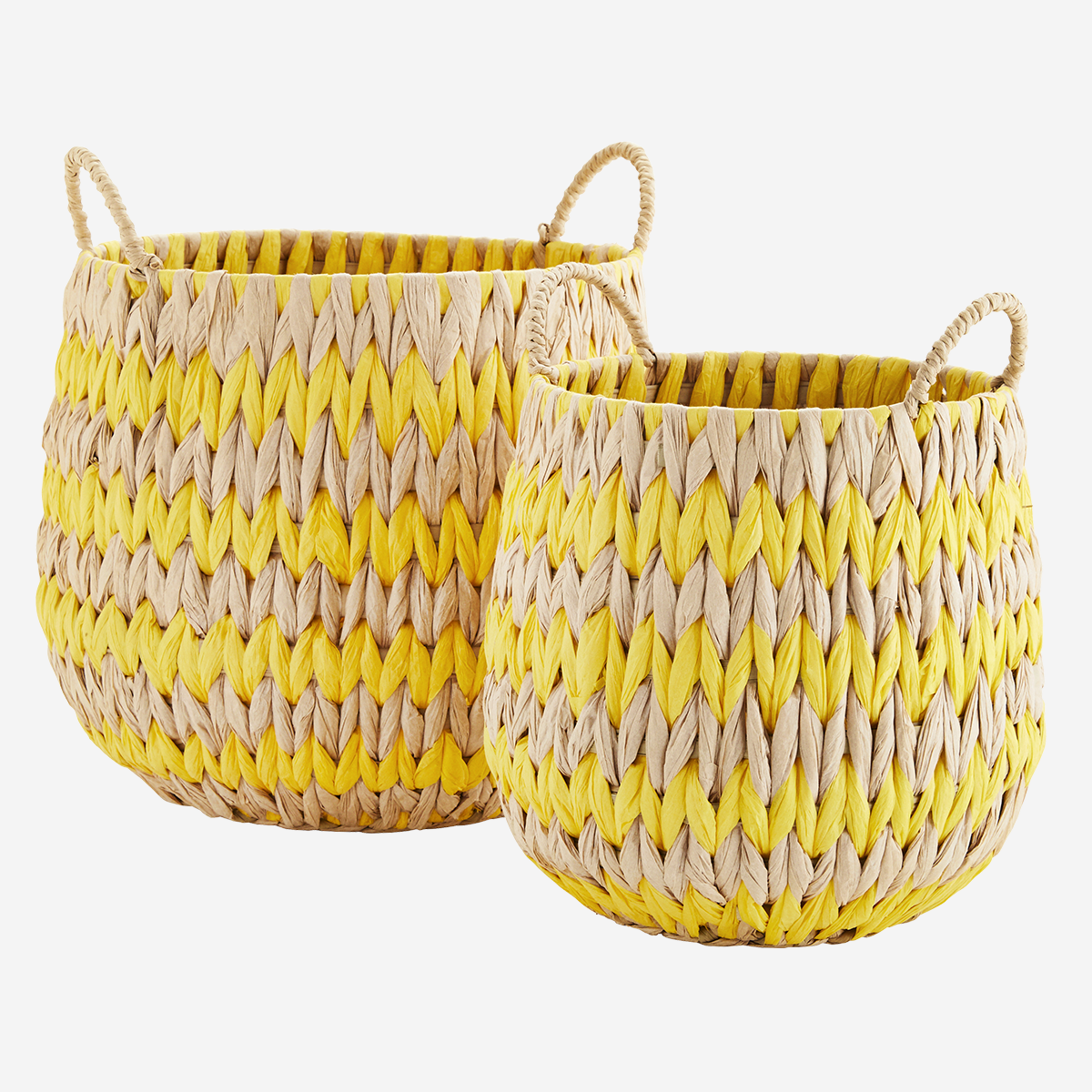 Wicker baskets w/ handles