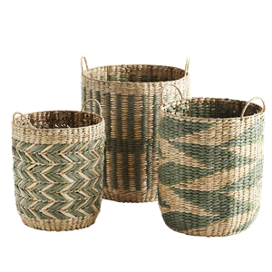 Grass wicker baskets