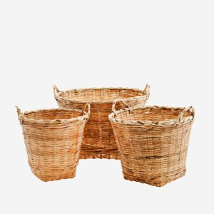 Bamboo baskets w/ handles