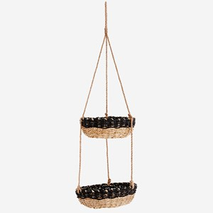 Hanging bamboo baskets