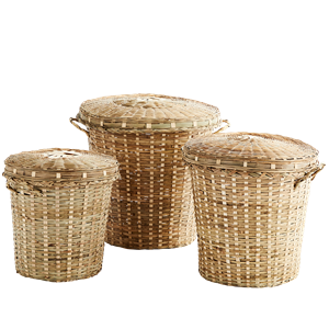 Bamboo baskets w/ lid