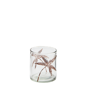 Glass votive w/ cutting