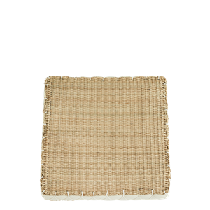Squared seagrass chair pad