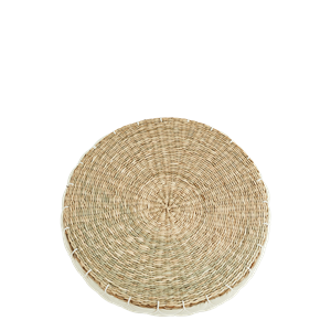 Round seagrass chair pad