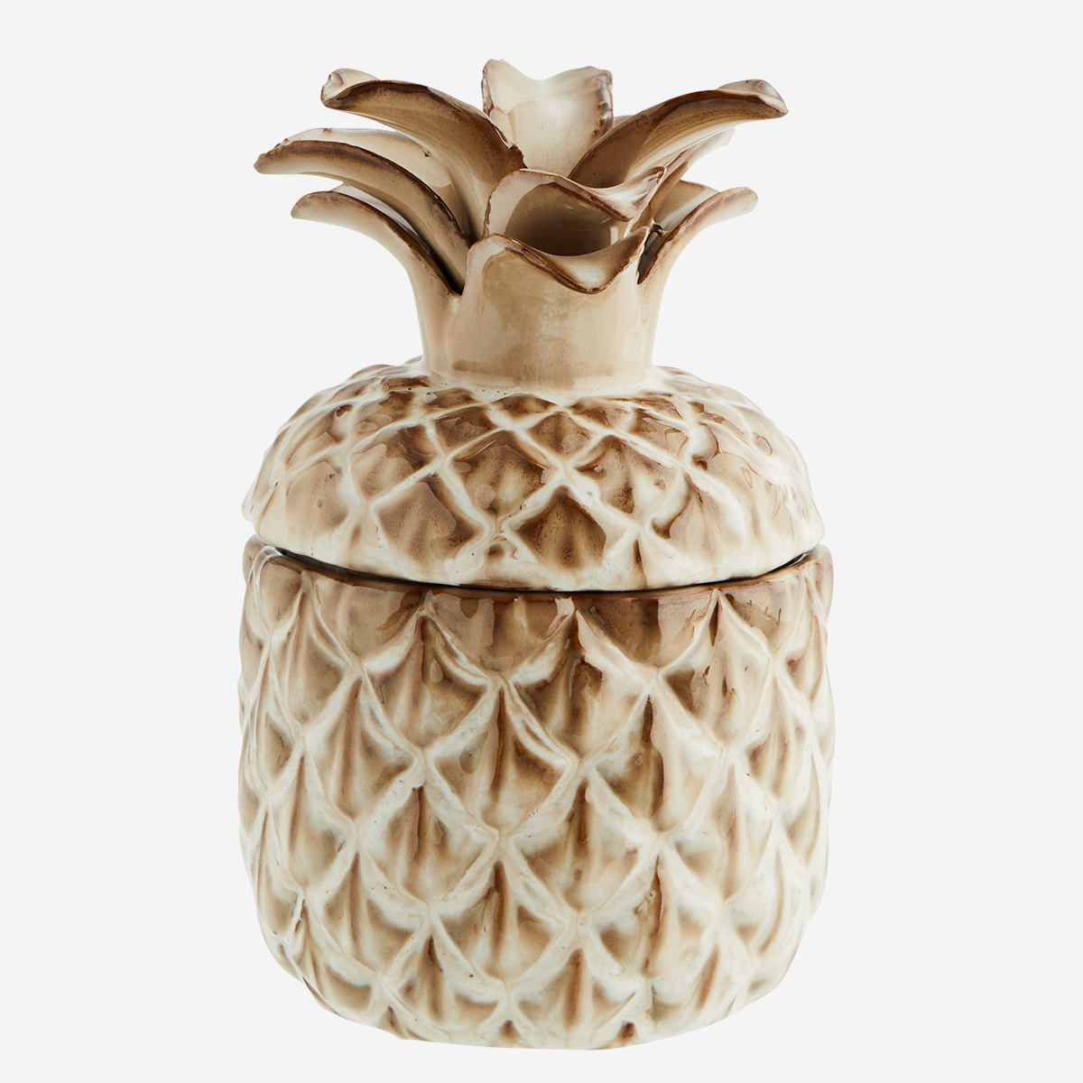 Pineapple jar w/ lid