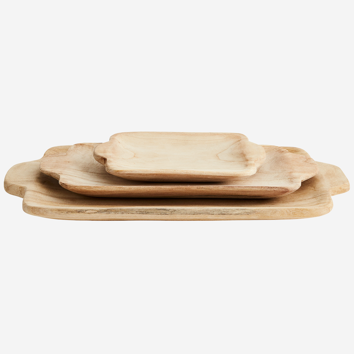 Rectangular wooden trays