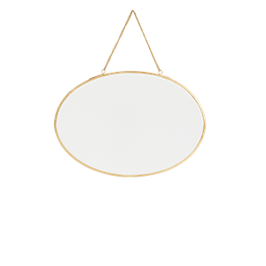 Oval hanging mirror