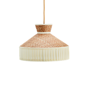 Cane ceiling lamp w/ cotton