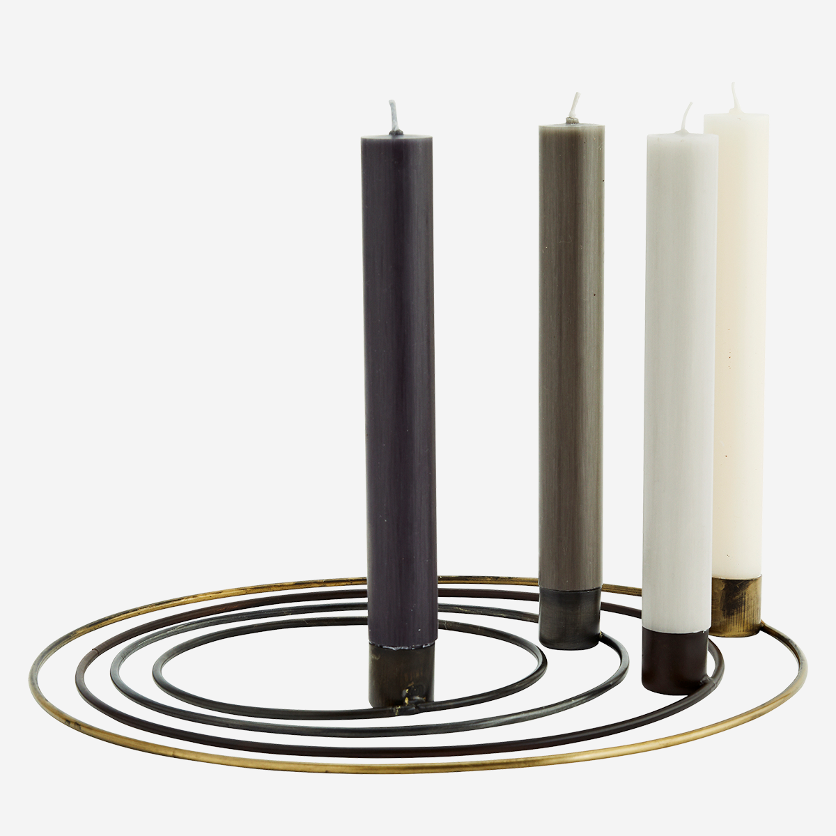 Round candle holders
