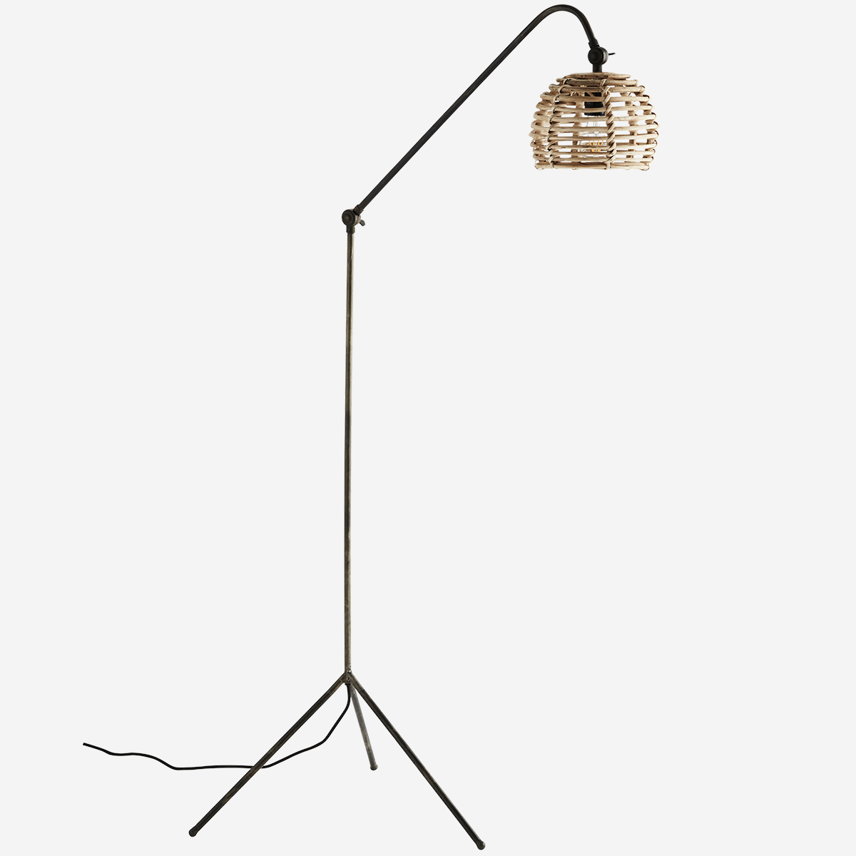 Floor lamp w/ bamboo shade