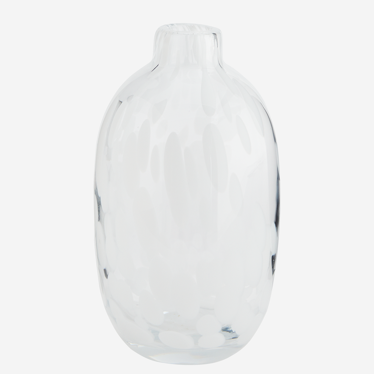 Dotted glass vase