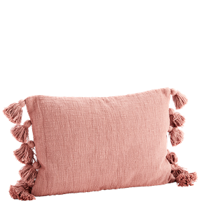 Cushion cover w/ tassels
