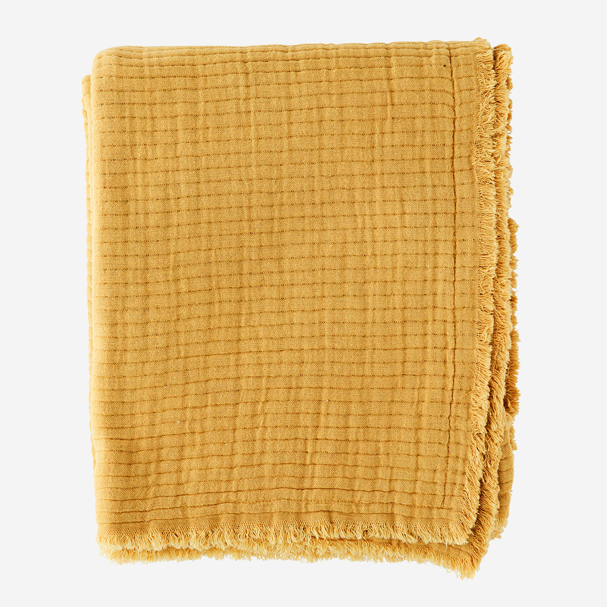 Ribbed cotton throw