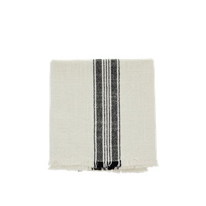 Striped kitchen towel w/ fringes