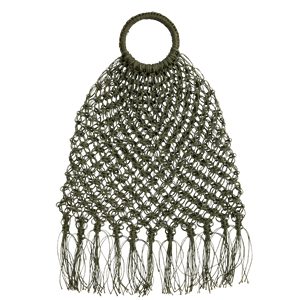 Jute macrame bag w/ fringes