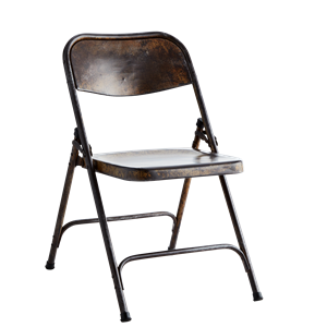 Recycled folding chair