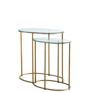 Oval side tables
