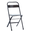 Recycled folding iron chair
