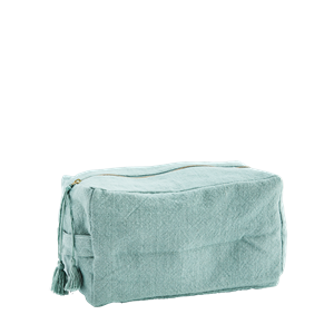 Cotton toilet bag w/ tassels