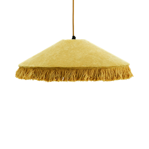 Velvet ceiling lamp w/ fringes